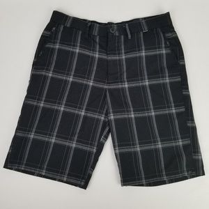 Hurley Plaid Casual Shorts Men's Size 32